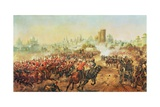 Charge of the Queens Bays Against the Mutineers at Lucknow  6th March 1858