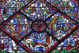 Chartres Cathedral  Stained Glass  Chartres  Eure Et Loir  France