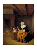 Mother and Child in an Interior  C1660