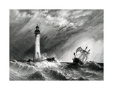 Eddystone Lighthouse  Print Made by WB Cooke  1836