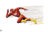 Justice League: the Flash Running with Streaks of Lightening