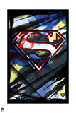 Superman: Superman Logo in the Style of an Abstract Painting with Black Border