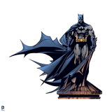 Batman: Batman Standing on a Water Tower with Cape Flowing to the Side