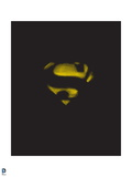 Superman: Superman Logo Negative Space  Yellow on Black