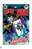 Batman: Cover The Joker Holding a Playing Card with Batman Stuck onto it and The Joker Smiling