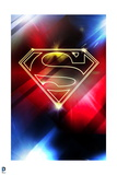 Superman: Superman Logo in Red and Blue Lights
