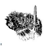 Superman: Metropolis (Black and White)