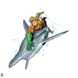 Justice League: Aquaman Riding Hammerhead Shark