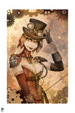 Batman: Steam Punk Style Harley Quinn with Top Hat and Gloves