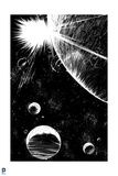 Superman: Space (Black and White)