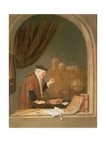 An Old Man Weighing Gold  1667