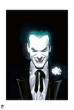 Batman: Cover Art with Close Up of the Joker Smiling Creepily in a Suit