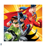 Justice League: Green Lantern  Batman  Flash  and Superman in Action Pose
