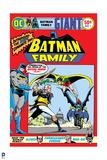 Batman: Batman Family Cover with Batman Robin and Batgirl Fighting a Villain