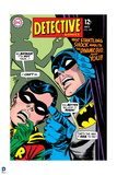 Batman: Cover Batman and Robin with Scared Faces and Outline of Woman in Background