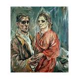 Self Portrait with Alma Mahler (1879-1964)