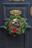 Christmas Decoration  Wreath on Front Door  Wertheim  Germany