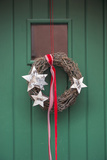 Christmas Decoration  Wreath on Front Door  Wertheim  Germany