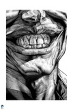 Batman: Black and White Close Up of the Jokers Teeth and Lips Smiling