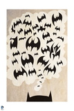 Batman: Poster with Top of Batman's Ears and Thought Bubble with Bats in It