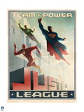 Justice League: Justice League Team Power Vintage Style Poster