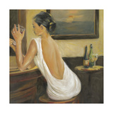Woman in White 2 Reproduction d'art par Sandra Smith