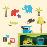 Safari Blocks Peel & Stick Wall Decals