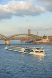 Scylla Tours Riverboat  Amelia  on the Rhine River in Cologne  Germany