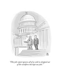"""This jobs report ignores all of us who've dropped out of the workforce bu…"" - Cartoon"