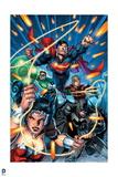 Justice League: Superman  Wonder Woman  Green Lantern  Batman  Aquaman  and Batman