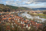 View of Main River and Wertheim  Germany in Winter