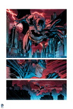 Batman: Batman Panels - Through the City  in Red and Blue