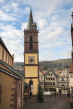 Gothic Church Tower  Evangelische Stiftskirche  Wertheim  Germany