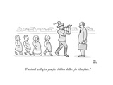 """Facebook will give you five billion dollars for that flute"" - Cartoon"
