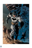 Batman: Batman Walking Powerfully  Bats Fly Behind