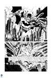 Batman: Batman Panels - Through the City  in Black and White