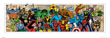 Marvel Comics Character Roster (Panoramic)