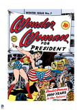 Wonder Woman: Wonder Woman Comic Cover - Wonder Woman for President  1000 Years in the Future