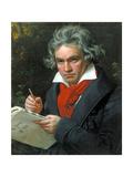 Ludwig Van Beethoven Composing His 'Missa Solemnis'  1820