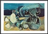 Cat and Crab on the Beach, 1965 Reproduction encadrée par Pablo Picasso