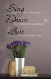 Dance  Sing  Love Peel & Stick Wall Decals