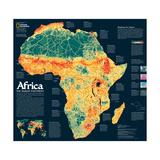 2005 Africa  the Human Footprint Map