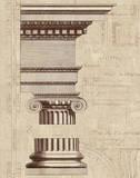 Architectural Rendering II Burlap Sepia Crop