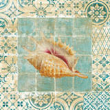 Shell Tiles II Blue