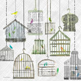Birdcages Collage Square I