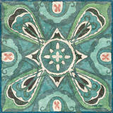 Tuscan Tile Blue Green III