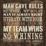 Man Cave Rules - Sq