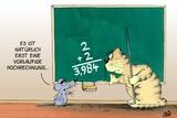 Hochrechnung/Maus