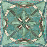 Tuscan Tile Blue Green II