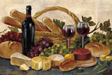 Tuscan Evening Wine Crop Reproduction d'art par Silvia Vassileva